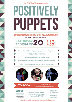 Positively Puppets Flyer